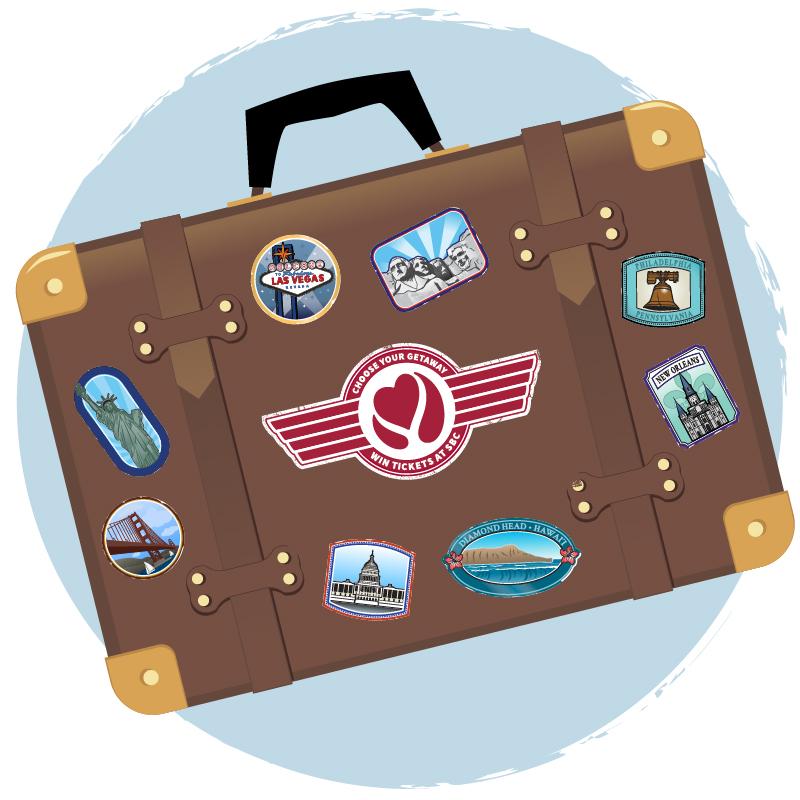 Choose your getaway suitcase
