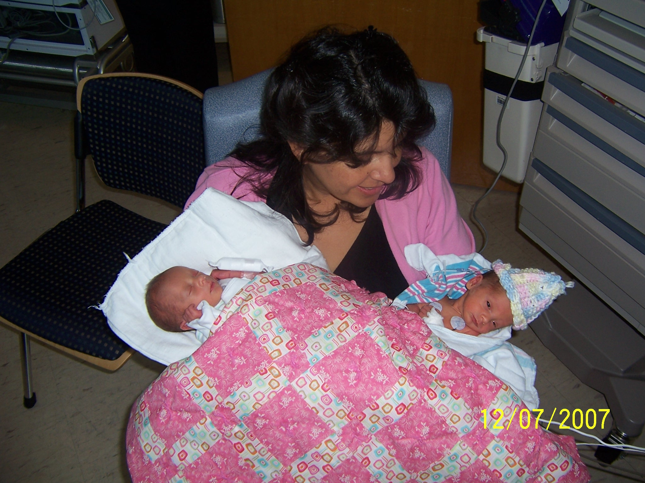 Marta with twins
