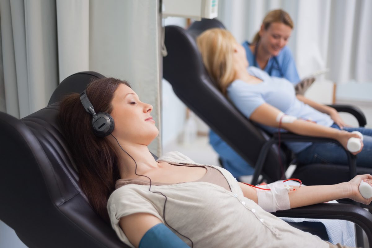 Donating blood relaxing