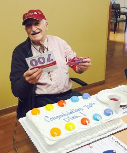 Dick Tagg, 700 times donor