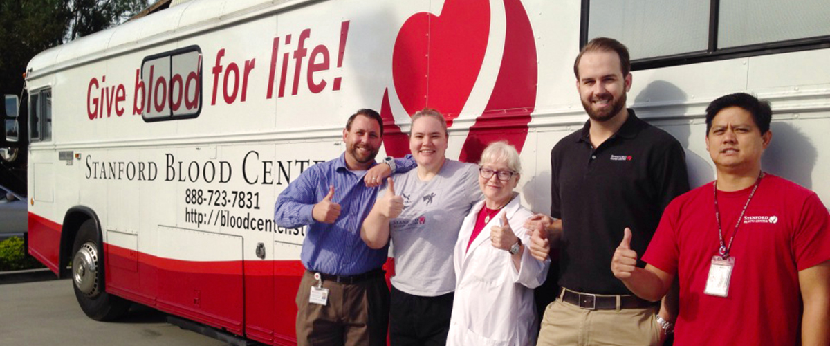 Bloodmobile and Staff