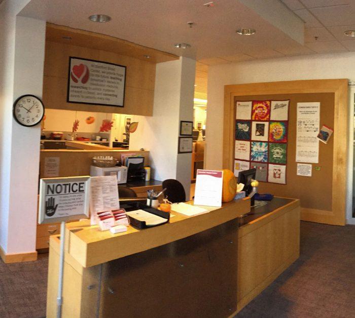 Palo Alto center lobby