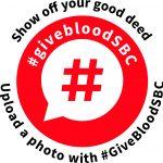 #givebloodSBC logo