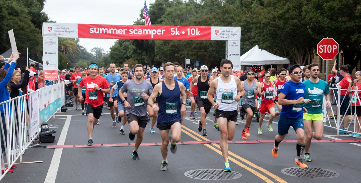 Summer Scamper runners