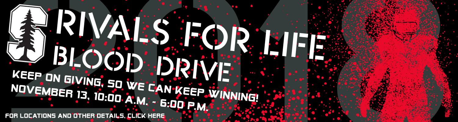 Donate blood at the Rivals for Life drive in November