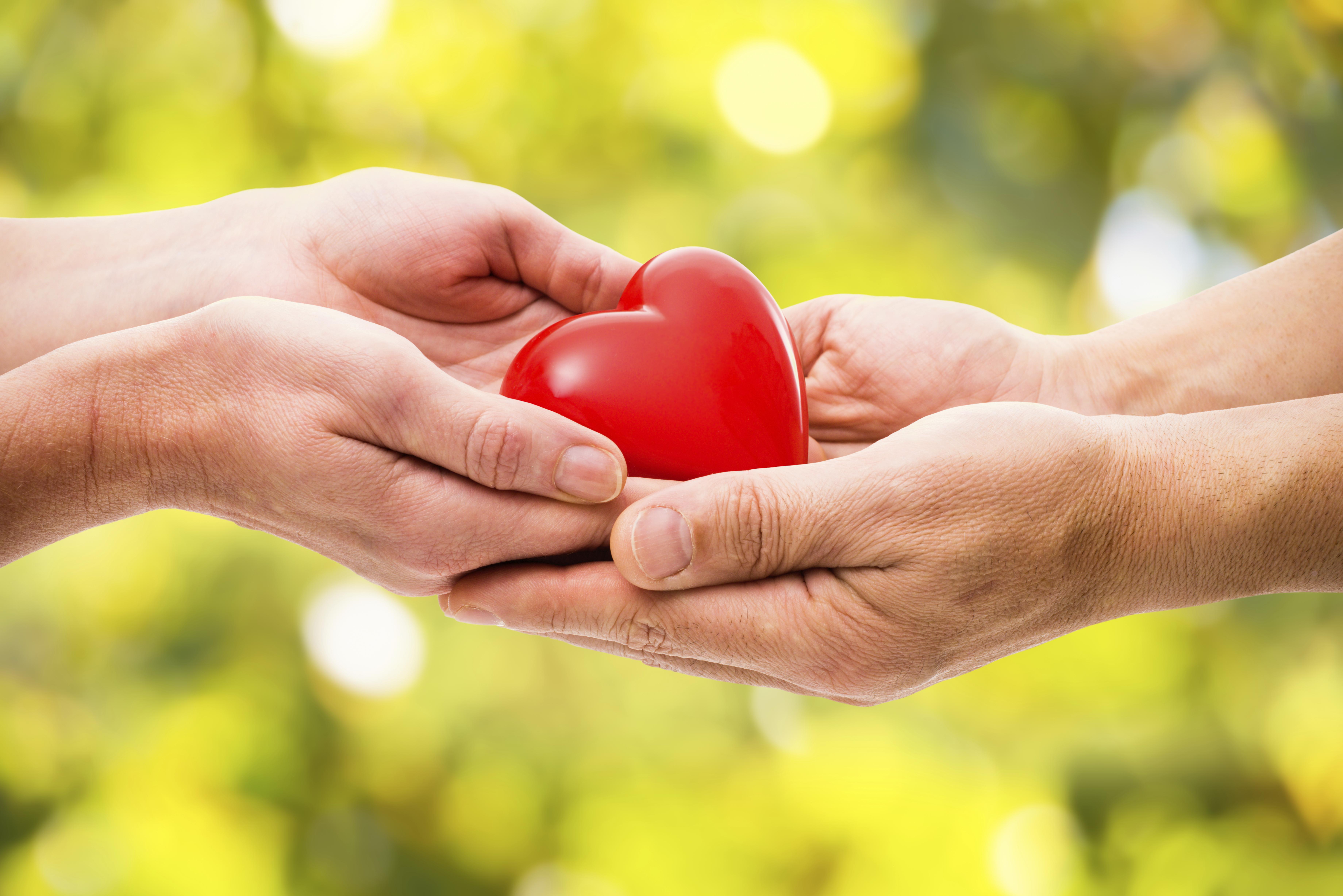 Heart passed between hands