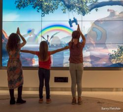 Interactive wall at the new children's hospital