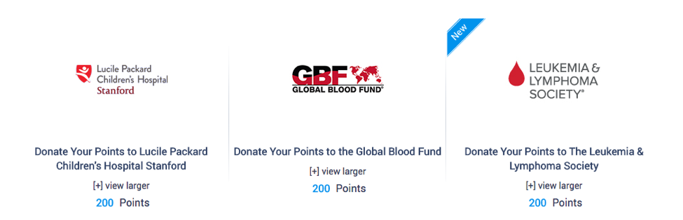 Donate Your Points Back