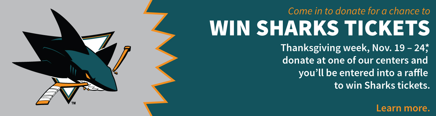 Win Sharks tickets when you donate blood