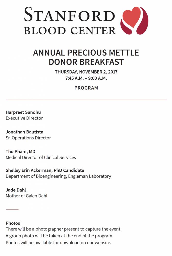 2017 PMB Program