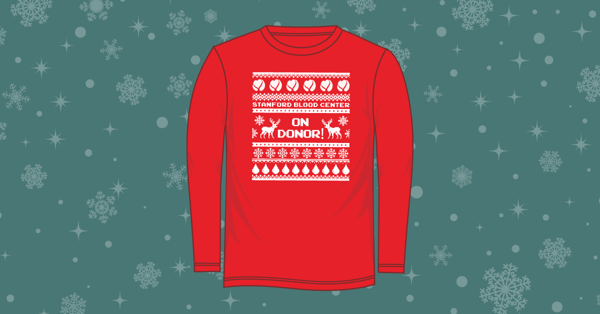 Donate December 17-29 and receive this ugly sweater t-shirt
