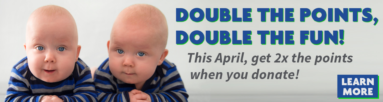 Double Your Points This April