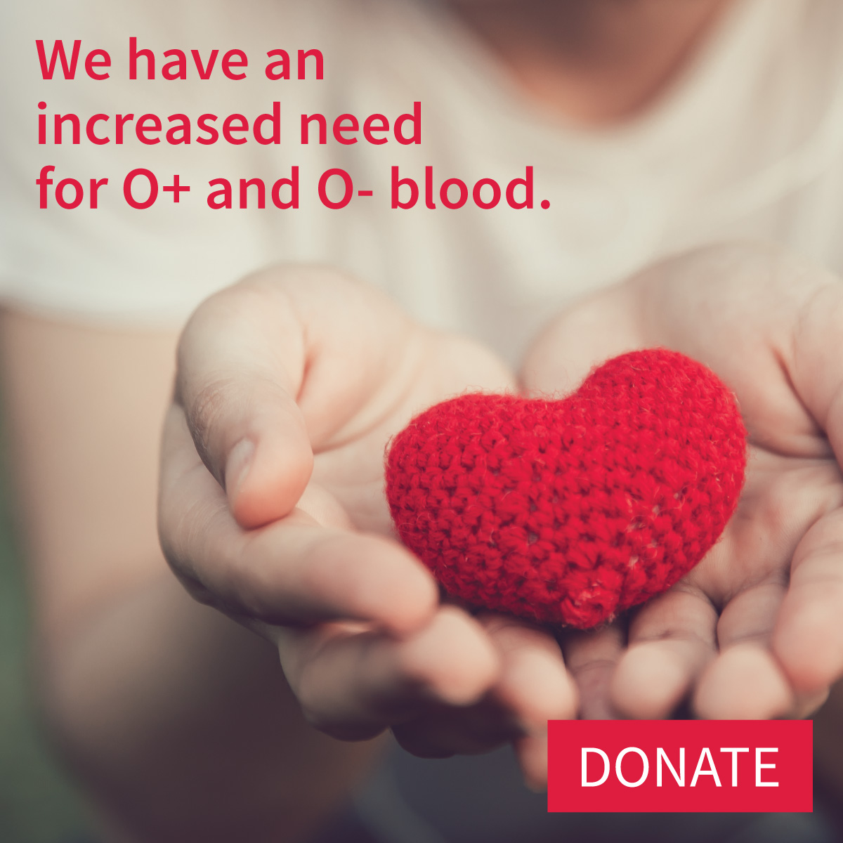 Increased need for O+ and O- blood products