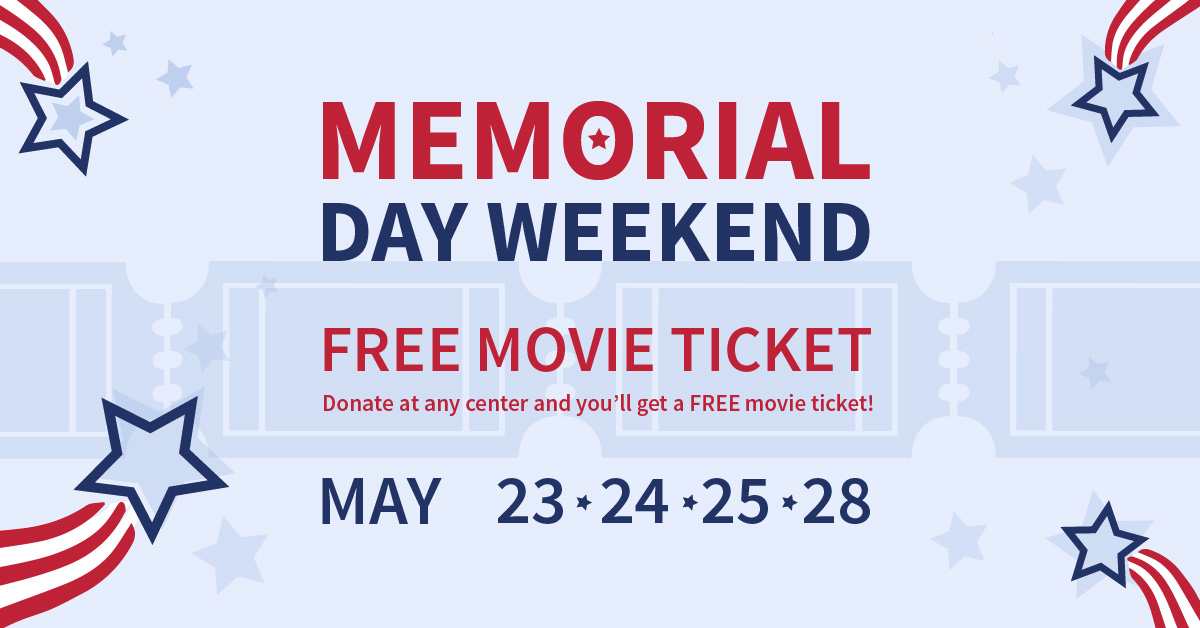 Memorial Day Weekend Movie Ticket