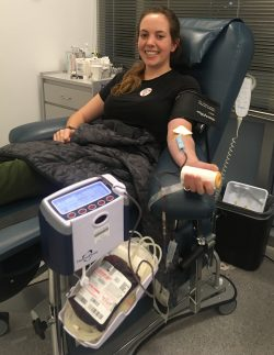 Julia Bodson, Volunteer at Stanford Blood Center