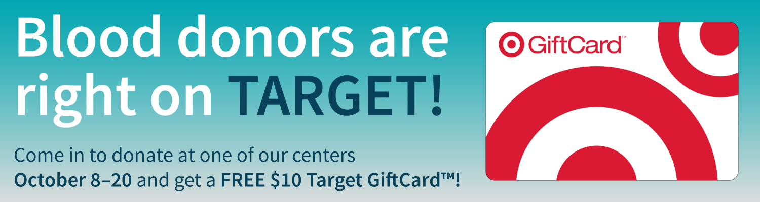 Donate blood, get a $10 Target gift card