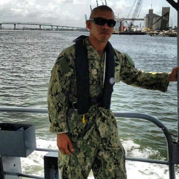 Isaac on Navy ship