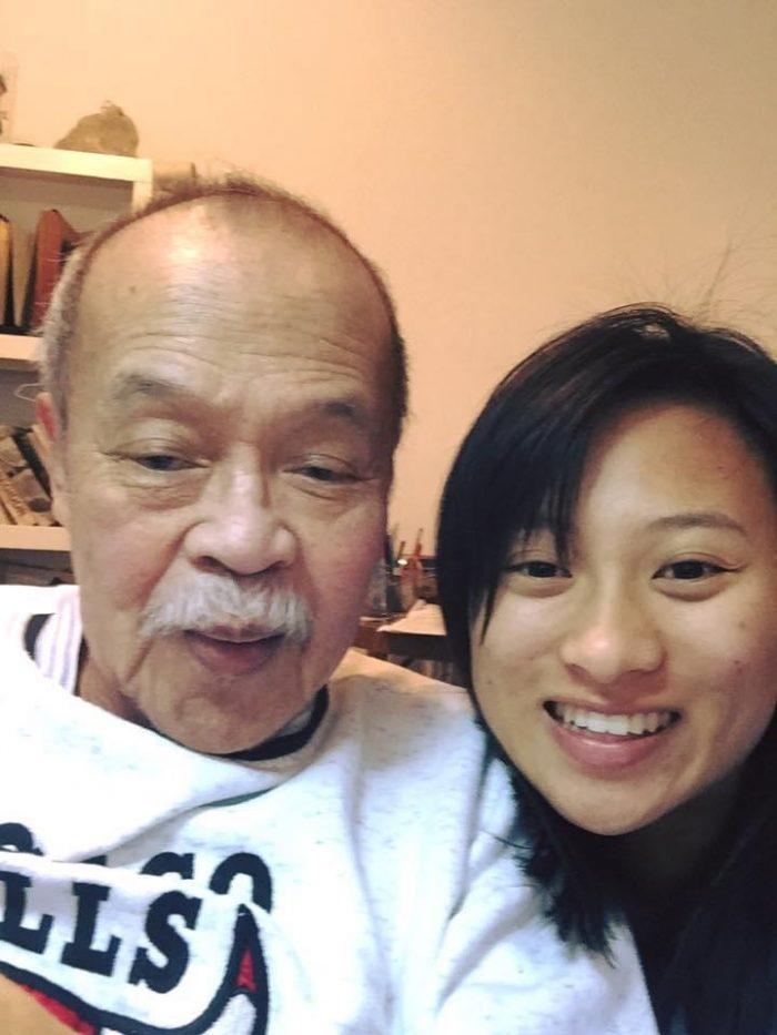 Megan Fernandez and grandfather