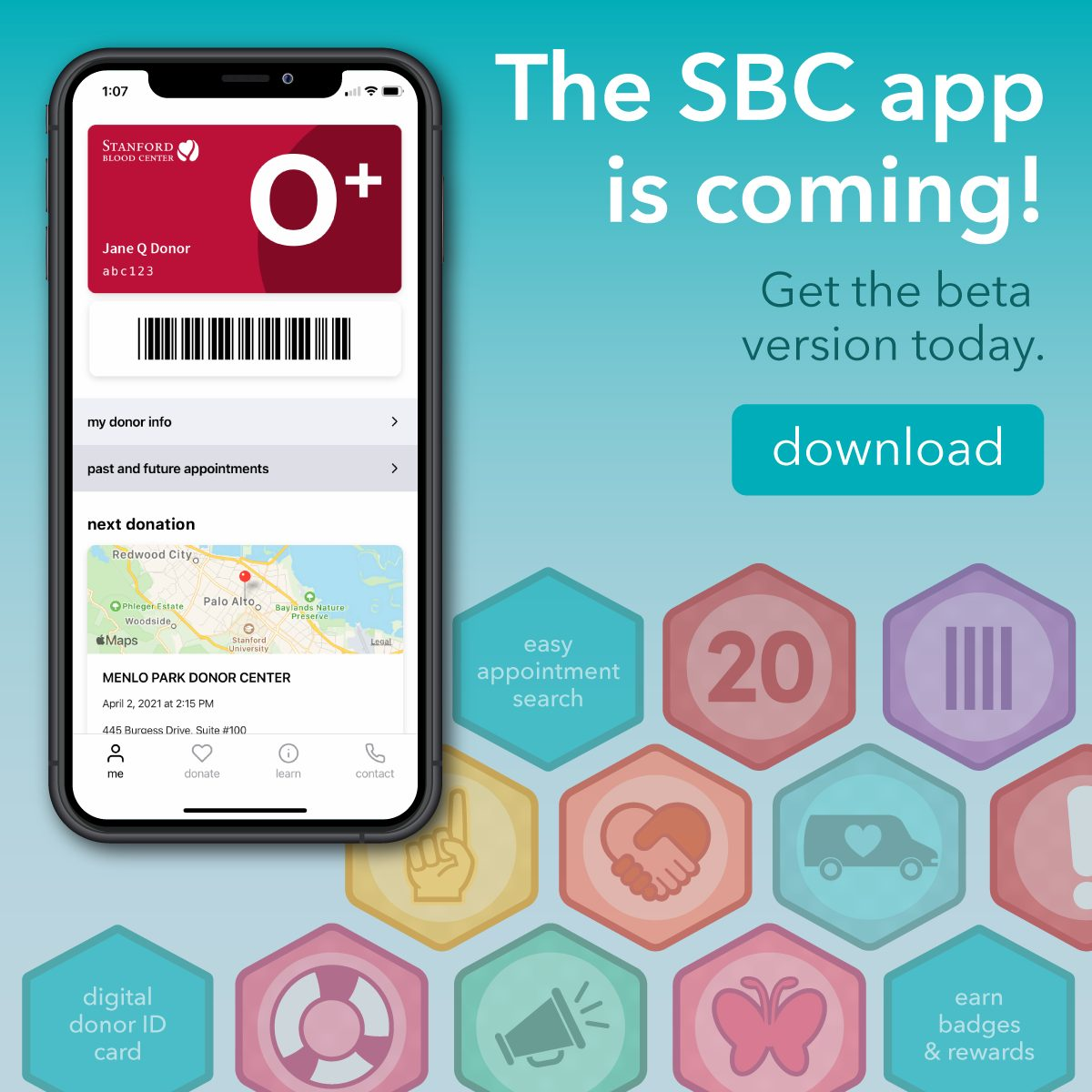 Download the beta version of the SBC app