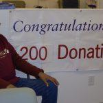 Ernest Boyd at 200th Donation
