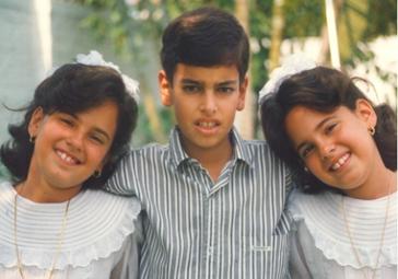 Carolina and her siblings