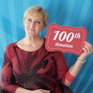 Cheryl Basinger 100 milestone photo